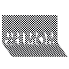 Sports Racing Chess Squares Black White #1 Mom 3d Greeting Cards (8x4)