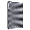 Sports Racing Chess Squares Black White Apple iPad Mini Hardshell Case View2