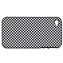 Sports Racing Chess Squares Black White Apple iPhone 4/4S Hardshell Case (PC+Silicone) View1