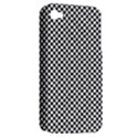 Sports Racing Chess Squares Black White Apple iPhone 4/4S Hardshell Case (PC+Silicone) View2