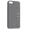 Sports Racing Chess Squares Black White Apple iPhone 5 Hardshell Case with Stand View2