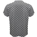 Sports Racing Chess Squares Black White Men s Cotton Tee View2
