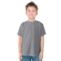 Sports Racing Chess Squares Black White Kids  Cotton Tee