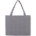 Sports Racing Chess Squares Black White Mini Tote Bag View1