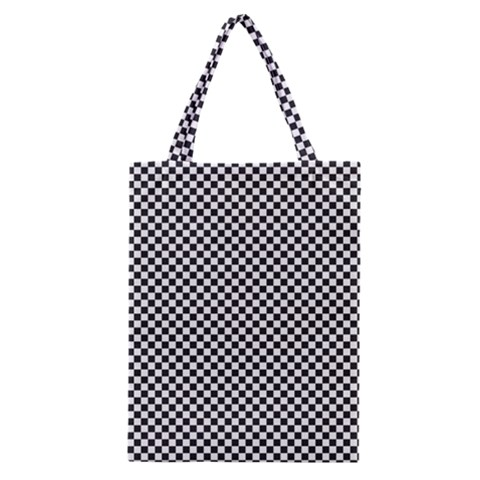Sports Racing Chess Squares Black White Classic Tote Bag