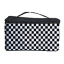 Sports Racing Chess Squares Black White Cosmetic Storage Case View1