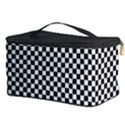 Sports Racing Chess Squares Black White Cosmetic Storage Case View3