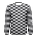 Sports Racing Chess Squares Black White Men s Long Sleeve Tee View1