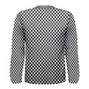 Sports Racing Chess Squares Black White Men s Long Sleeve Tee View2