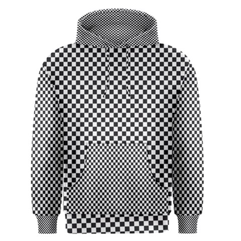 Sports Racing Chess Squares Black White Men s Pullover Hoodie