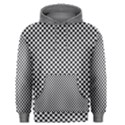 Sports Racing Chess Squares Black White Men s Pullover Hoodie View1