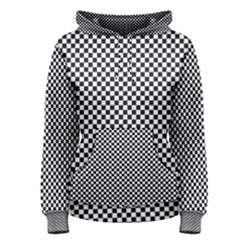 Sports Racing Chess Squares Black White Women s Pullover Hoodie