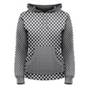 Sports Racing Chess Squares Black White Women s Pullover Hoodie View1