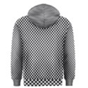 Sports Racing Chess Squares Black White Men s Zipper Hoodie View2