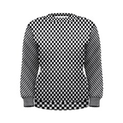 Sports Racing Chess Squares Black White Women s Sweatshirt