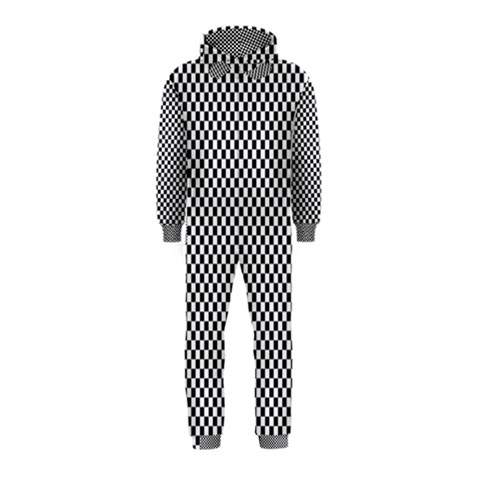 Sports Racing Chess Squares Black White Hooded Jumpsuit (Kids)