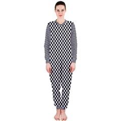 Sports Racing Chess Squares Black White OnePiece Jumpsuit (Ladies)