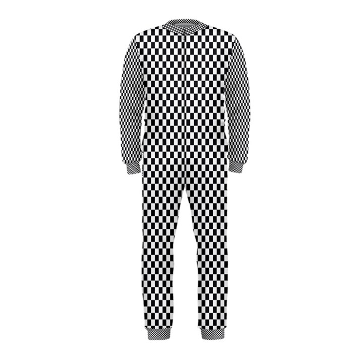 Sports Racing Chess Squares Black White OnePiece Jumpsuit (Kids)