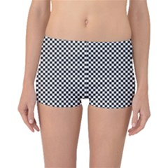 Sports Racing Chess Squares Black White Boyleg Bikini Bottoms