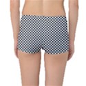 Sports Racing Chess Squares Black White Boyleg Bikini Bottoms View2