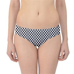 Sports Racing Chess Squares Black White Hipster Bikini Bottoms