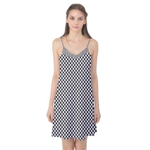 Sports Racing Chess Squares Black White Camis Nightgown