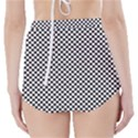 Sports Racing Chess Squares Black White High-Waisted Bikini Bottoms View2
