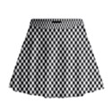 Sports Racing Chess Squares Black White Mini Flare Skirt View1