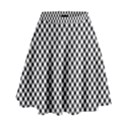 Sports Racing Chess Squares Black White High Waist Skirt View1