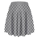 Sports Racing Chess Squares Black White High Waist Skirt View2
