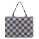 Sports Racing Chess Squares Black White Medium Tote Bag View1