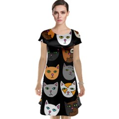 Cats Cap Sleeve Nightdress