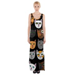 Cats Maxi Thigh Split Dress