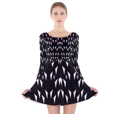 Win 20161004 23 30 49 Proyiyuikdgdgscnhggpikhhmmgbfbkkppkhoujlll Long Sleeve Velvet Skater Dress
