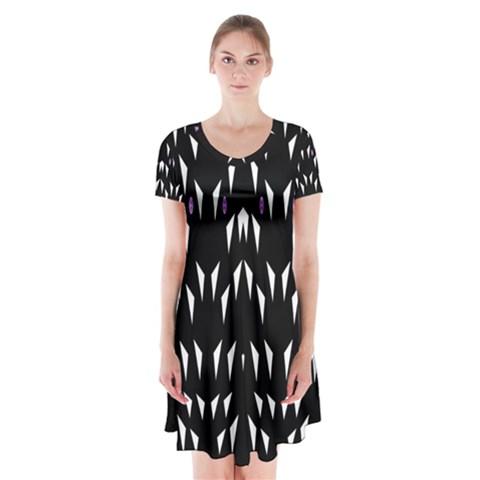 Win 20161004 23 30 49 Proyiyuikdgdgscnhggpikhhmmgbfbkkppkhoujlll Short Sleeve V-neck Flare Dress
