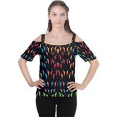 ;; Women s Cutout Shoulder Tee
