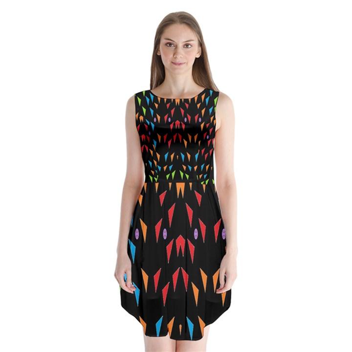 ;; Sleeveless Chiffon Dress