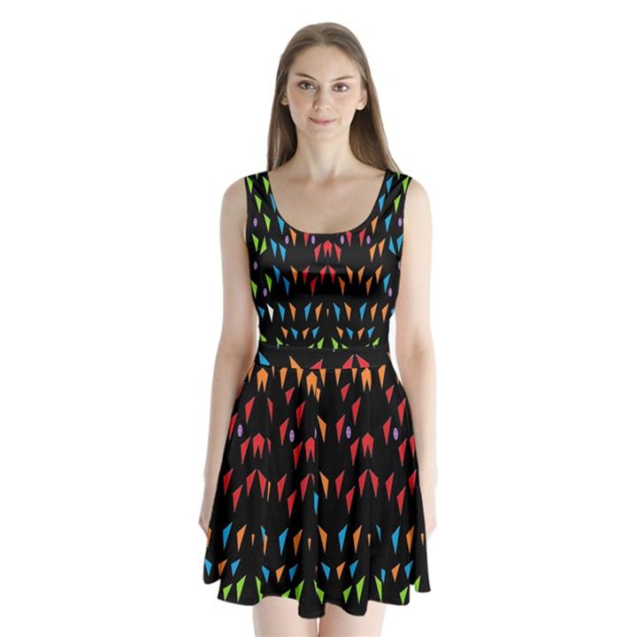 ;; Split Back Mini Dress