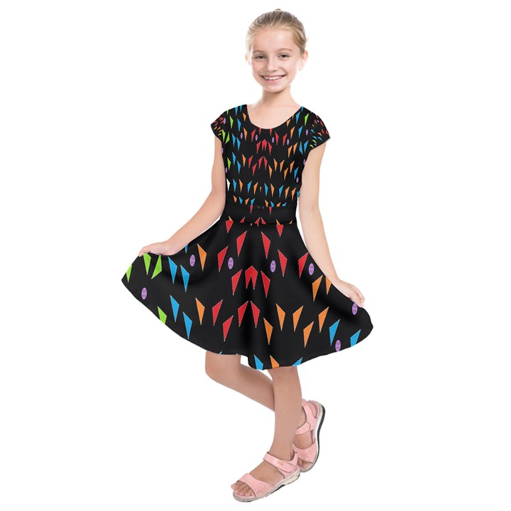 ;; Kids  Short Sleeve Dress