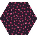 Pattern Of Vampire Mouths And Fangs Mini Folding Umbrellas View1