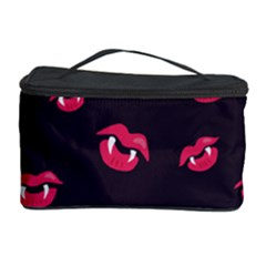 Pattern Of Vampire Mouths And Fangs Cosmetic Storage Case