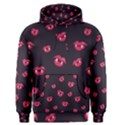 Pattern Of Vampire Mouths And Fangs Men s Pullover Hoodie View1