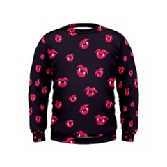 Pattern Of Vampire Mouths And Fangs Kids  Sweatshirt