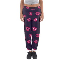 Pattern Of Vampire Mouths And Fangs Women s Jogger Sweatpants