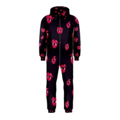 Pattern Of Vampire Mouths And Fangs Hooded Jumpsuit (kids)