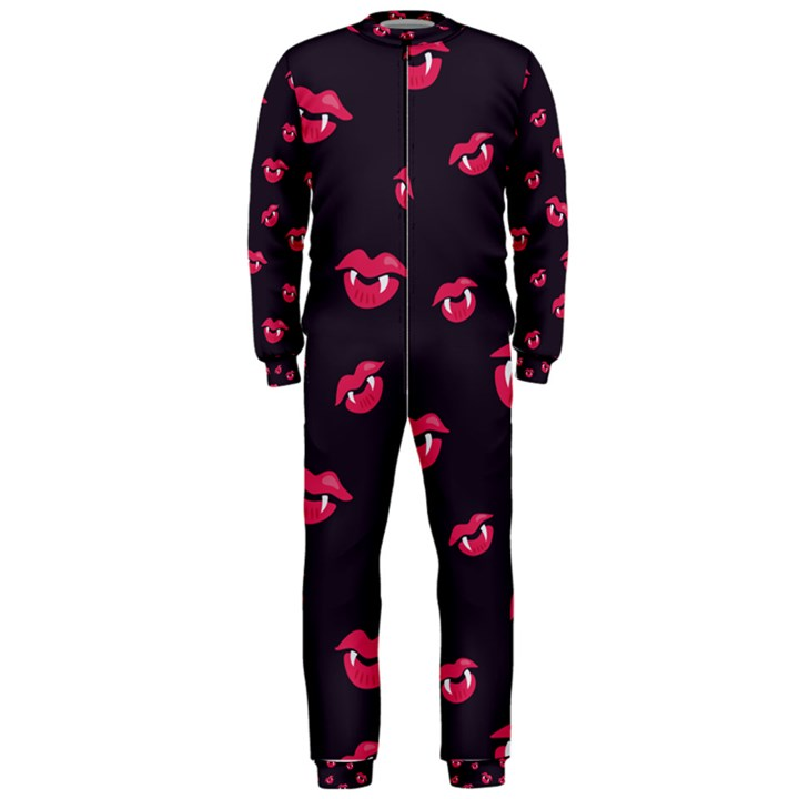 Pattern Of Vampire Mouths And Fangs OnePiece Jumpsuit (Men)