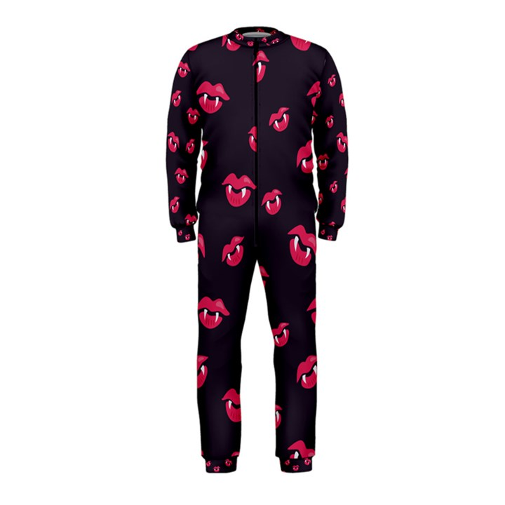Pattern Of Vampire Mouths And Fangs OnePiece Jumpsuit (Kids)