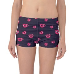 Pattern Of Vampire Mouths And Fangs Boyleg Bikini Bottoms