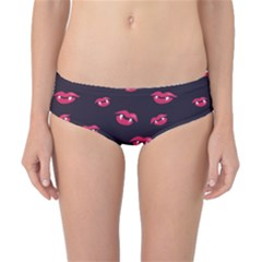 Pattern Of Vampire Mouths And Fangs Classic Bikini Bottoms