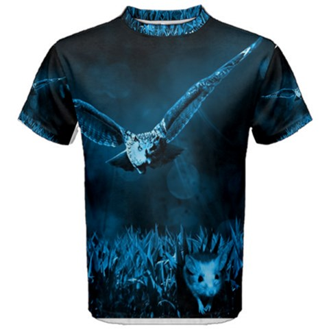 Hunting owl  Men s Cotton Tee